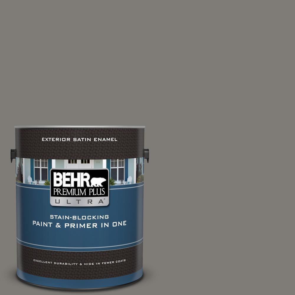 Behr premium plus ultra 1 gal ppu24 21 greyhound satin - Behr ultra exterior paint reviews ...