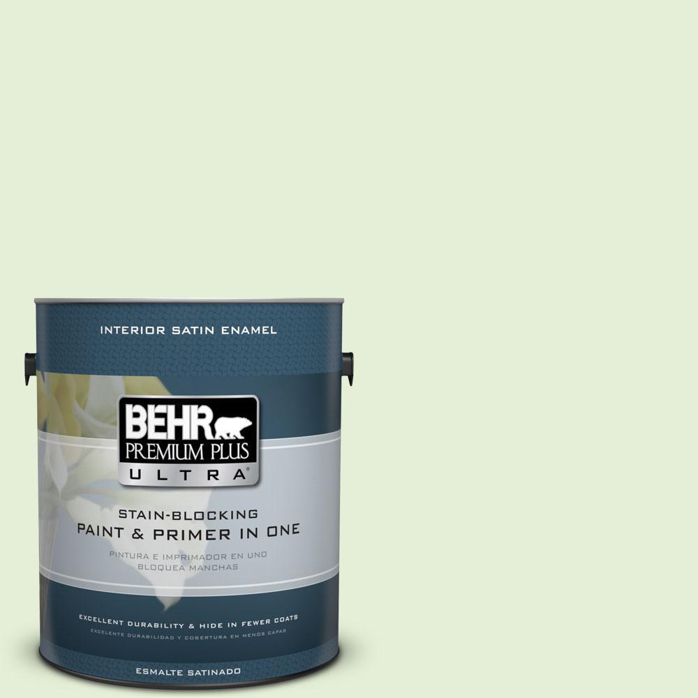 BEHR Premium Plus Ultra 1-gal. #430C-2 Spring Morn Satin Enamel Interior Paint