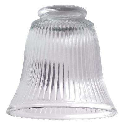 4-1/2 in. Clear Ribbed Bell with 2-1/4 in. Fitter and 4-3/4 in. Width