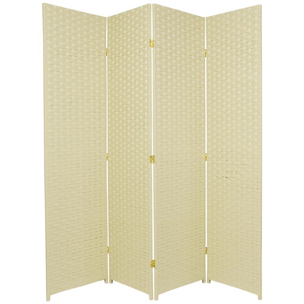 6 ft. Cream 4-Panel Room Divider