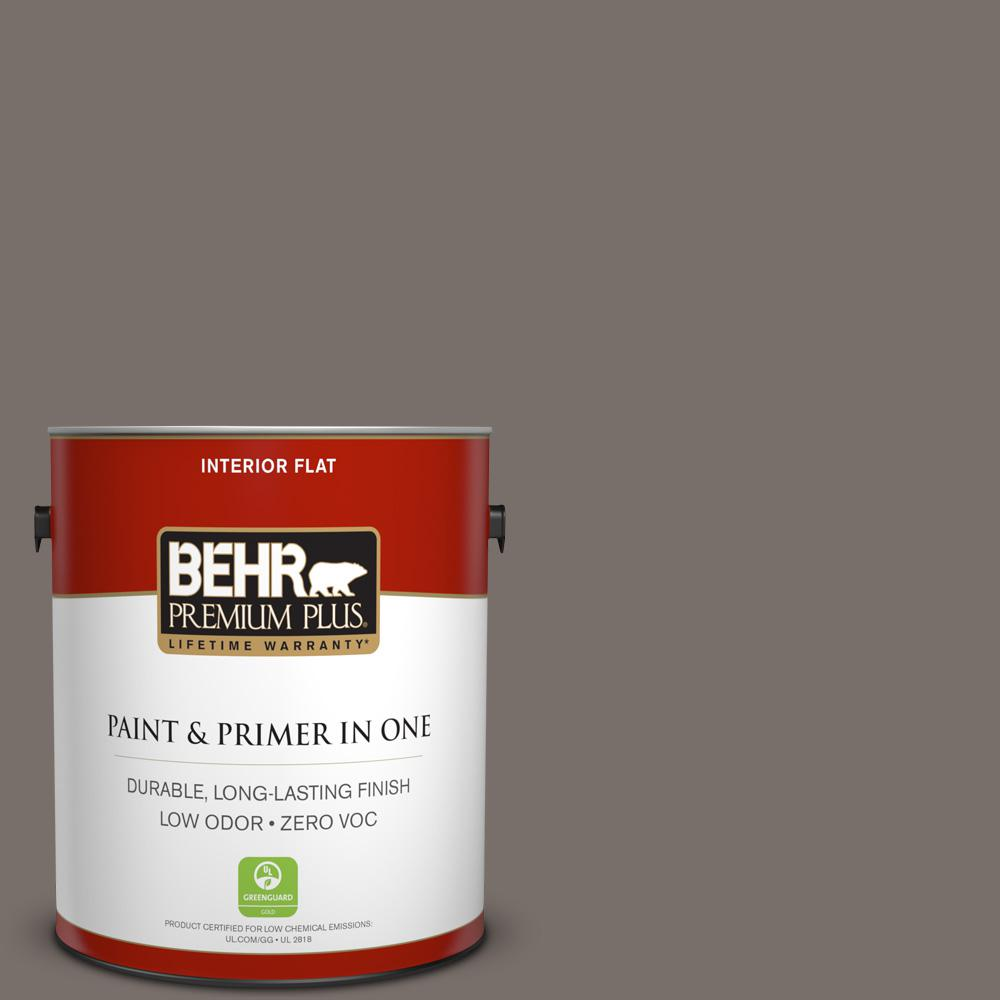 BEHR Premium Plus 1-gal. #N200-6 Kindling Flat Interior Paint