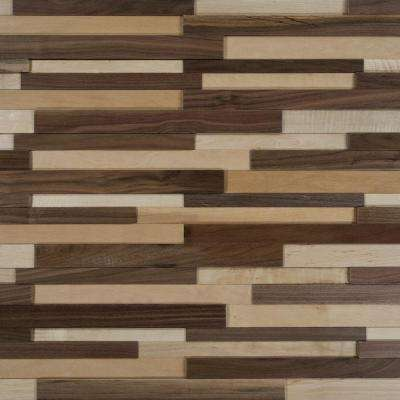 Take Home Sample - Deco Strips Natural Engineered Hardwood Wall Strips - 5 in. x 7 in.