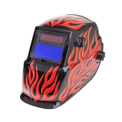 Red Steel Auto Darkening Helmet Variable Shade 9-13
