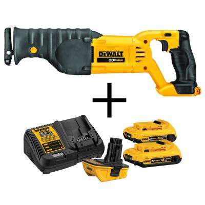 20-Volt MAX Lithium-Ion Cordless Reciprocating Saw With Bonus 18-Volt to 20-Volt Max Lithium-ion Battery Adapter Kit