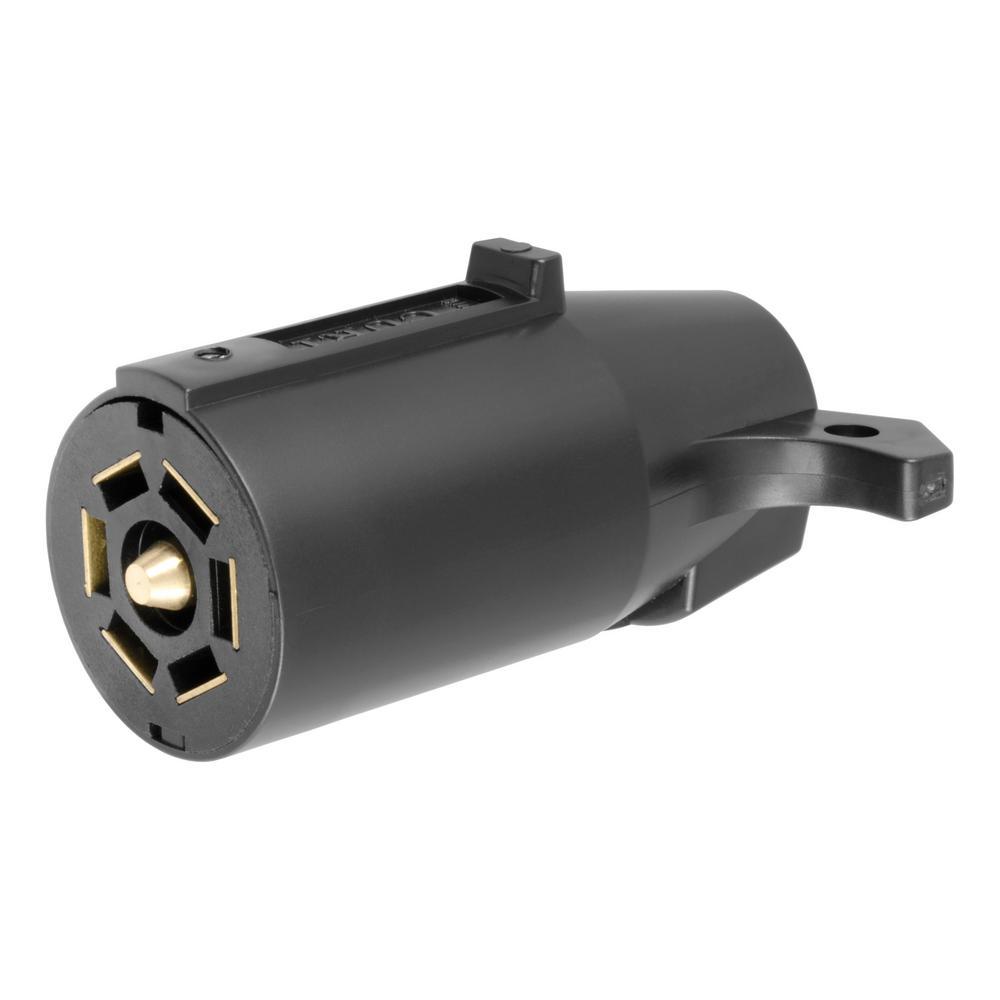 CURT    7   Way    RV Blade Connector Plug     Trailer    Side  Black Plastic 58140  The Home Depot