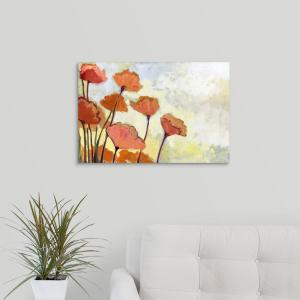 Greatbigcanvas 24 In X 16 In Poppies In Cream By Jennifer Lommers Canvas Wall Art 1047453 24 24x16 The Home Depot