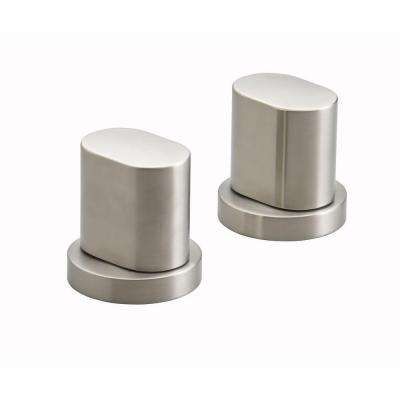 Oblo Bathroom Faucet Handles in Vibrant Brushed Nickel (Valve Not Included)