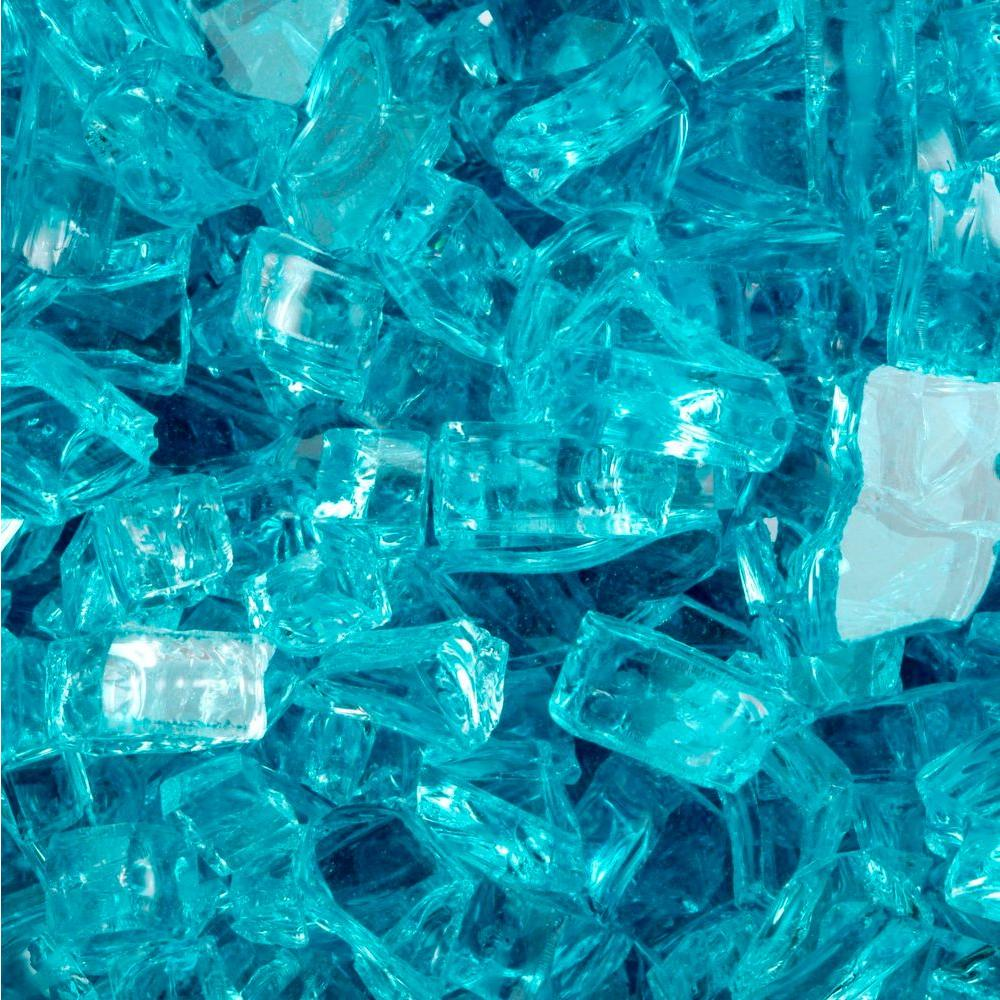 FireCrystals 15 lbs. Aquamarine Premier Fire Glass