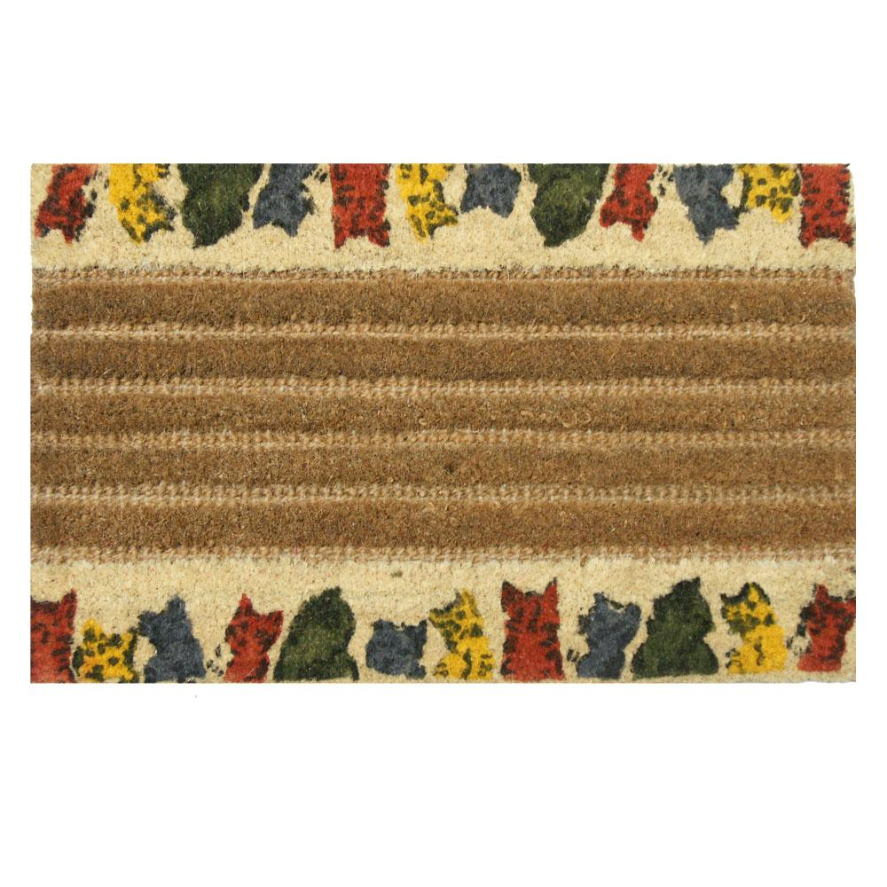 Kitty Cat 18 In X 30 Coir Door Mat
