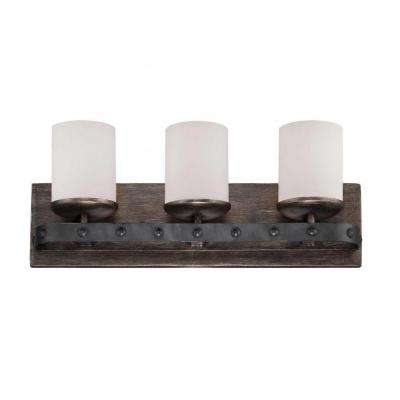 Aumbrie 3-Light Reclaimed Wood Bath Vanity Light