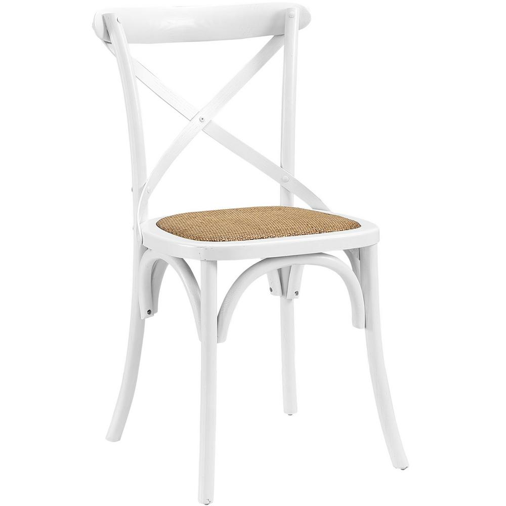 Modway Gear White Dining Side Chair
