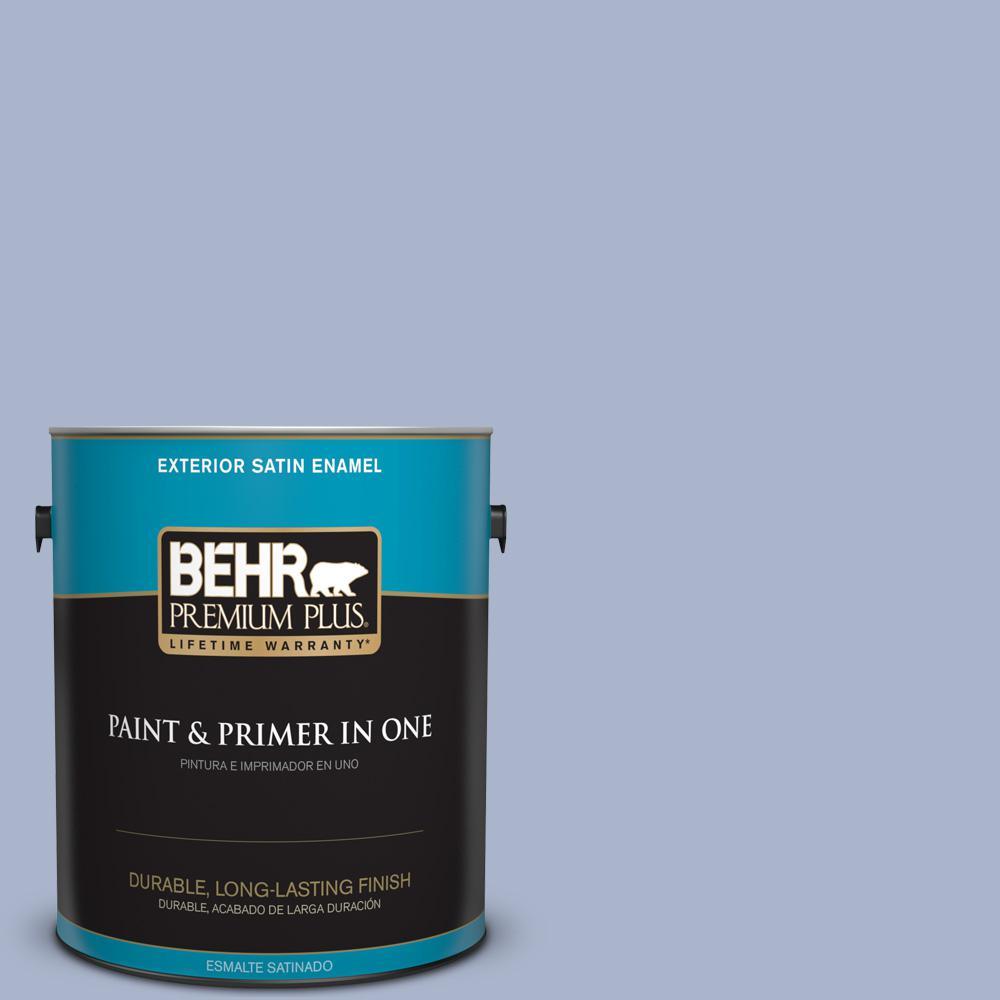 1 gal. #PPU15-14 Ballroom Blue Satin Enamel Exterior Paint