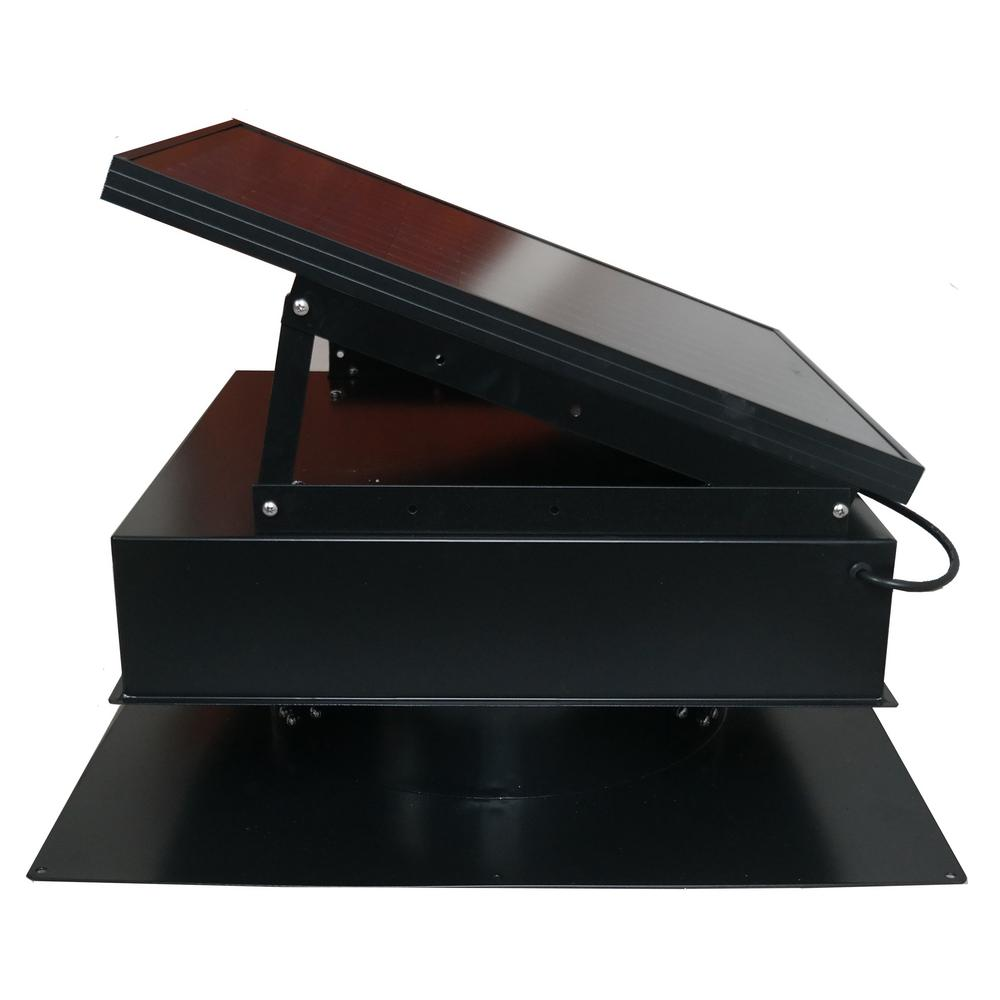Remington Solar 30 Watt 1550 Cfm Black Solar Powered Attic