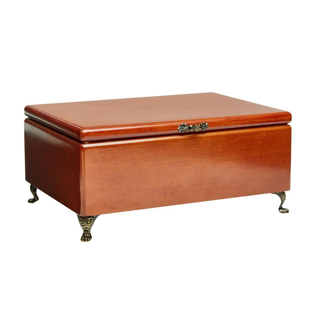 Kinsley Walnut Wooden Jewelry Box