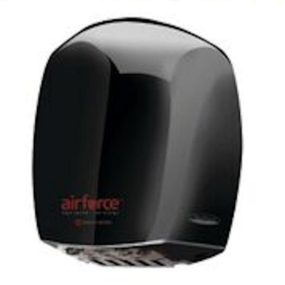 World Dryer Corporation Airforce Hand Dryer in Black, Black Chrome Plating World Dryer Corporation Airforce Hand Dryer in Black, Black Chrome Plating