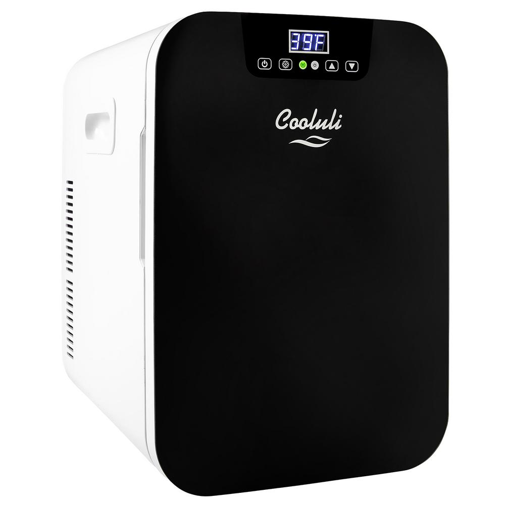 COOLULI Concord 0.7 cu. ft. Retro Mini Fridge in Black without Freezer