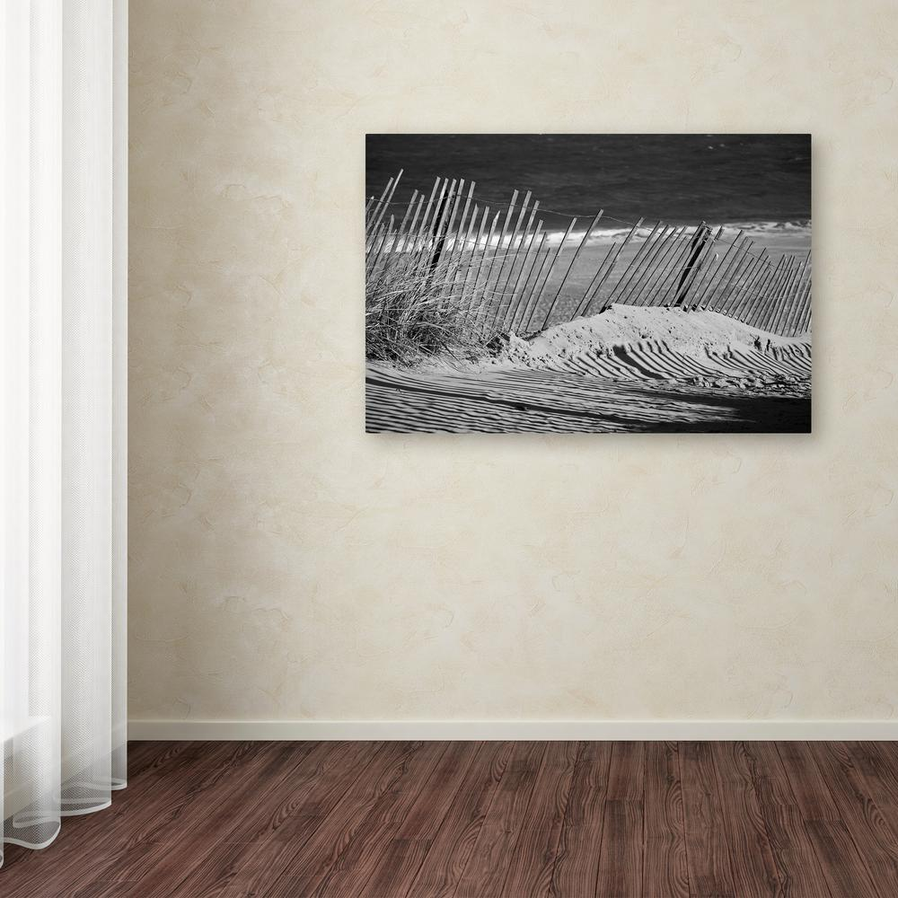 "16 in. x 24 in. ""Sandy Beach Fence"" by PIPA Fine"