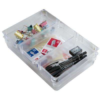 Clear Plastic Drawer Organizers (Set of 4)