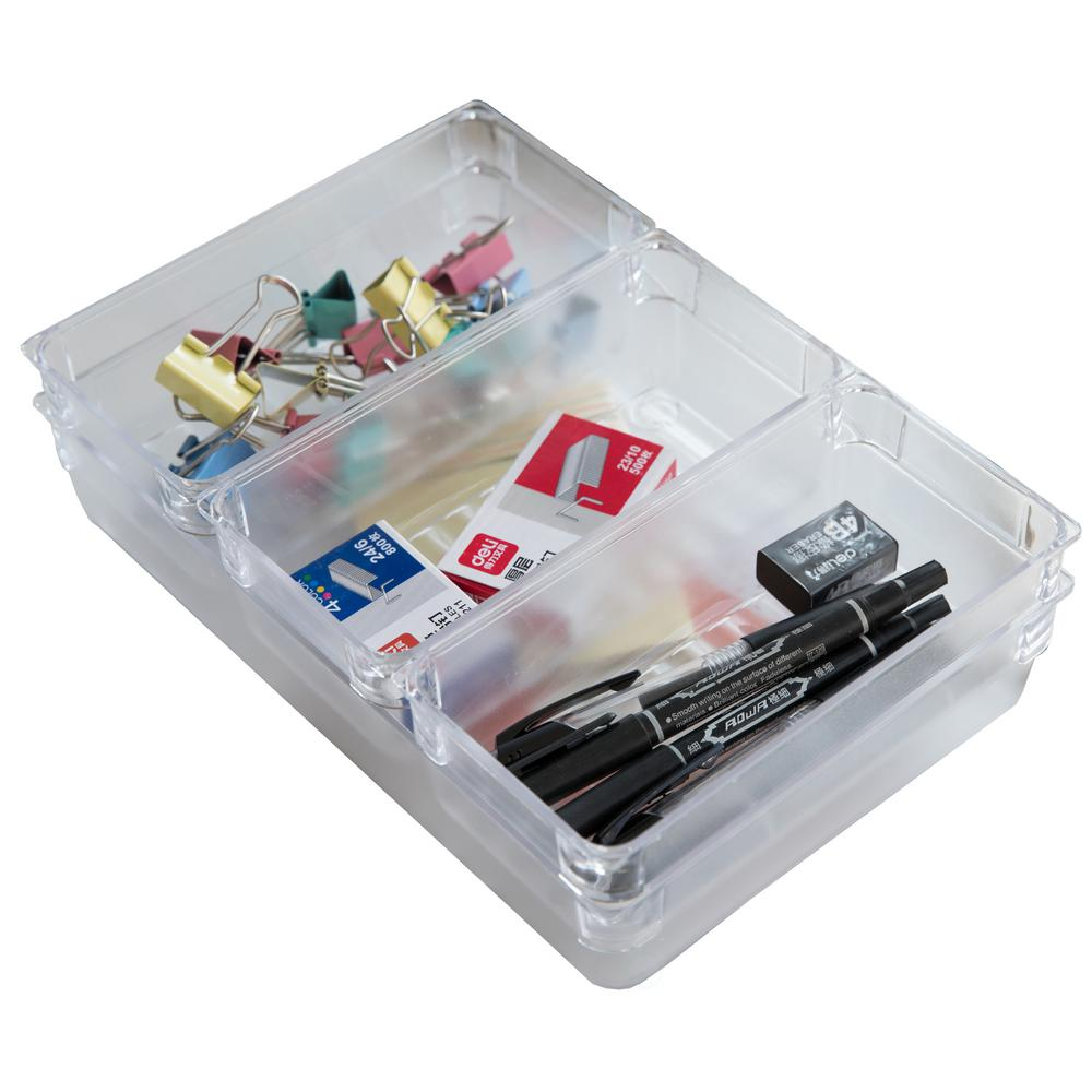 Marvelous Clear Plastic Drawer Organizers (Set Of 4)