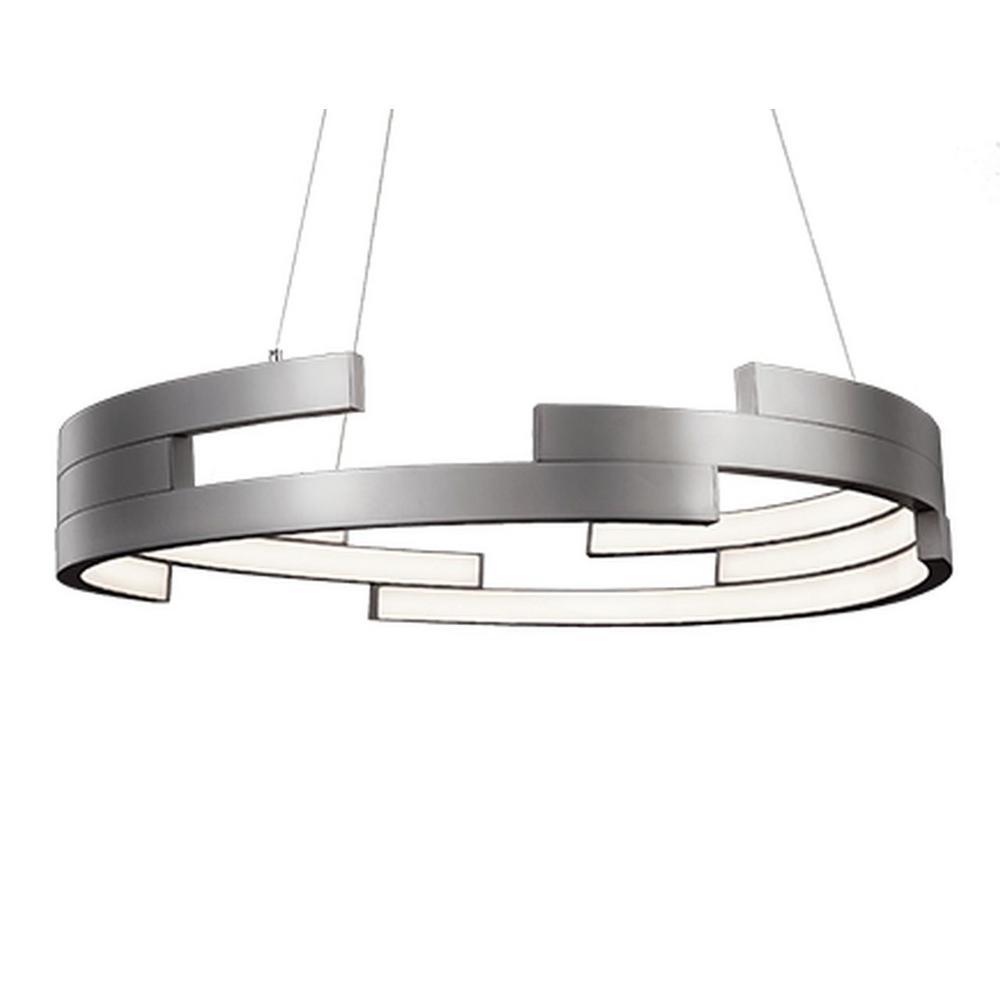 Kara 1-Light 60-Watt Equivalence Brushed Nickel Integrated LED Pendant