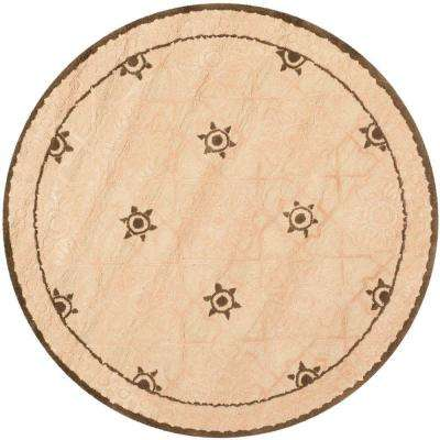 Newport Creme/Ivory 4 ft. x 4 ft. Round Area Rug