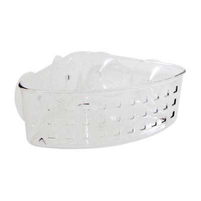 Suction Corner Basket in Clear