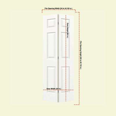 24 in. x 80 in. Colonist White Painted Smooth Molded Composite MDF Closet Bi-Fold Door