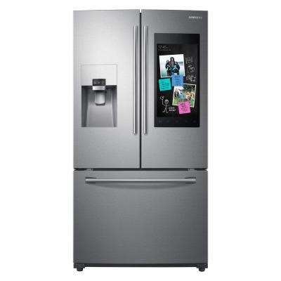 24 2 cu  ft  Family Hub French Door Smart Refrigerator in Stainless Steel