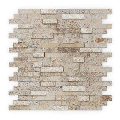 Sandy 11.75 in. x 11.60 in. x 8 mm Self Adhesive Wall Tile Mosaic in Tan (11.4 sq. ft. / case)