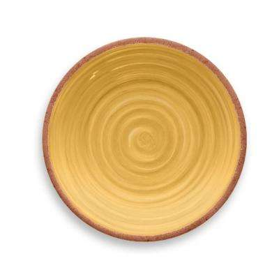 Rustic Swirl Yellow Salad Plate (Set of 6)