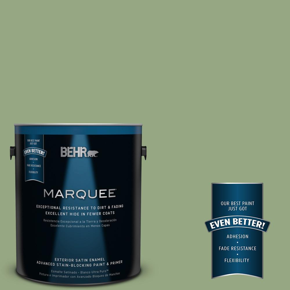 BEHR MARQUEE 1-gal. #M380-5 Hillside Grove Satin Enamel Exterior Paint