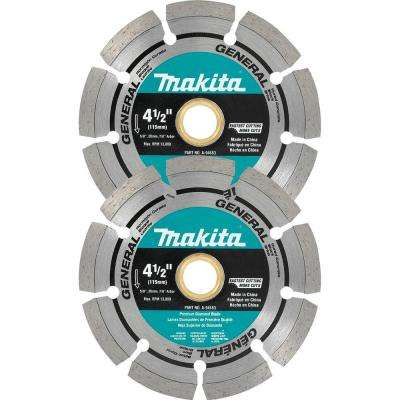 4-1/2 in. Segmented Diamond Blade (2-Pack)