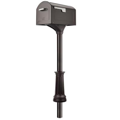Rubbed Bronze Centennial Extra Large Mailbox and Decorative Post Combo Kit