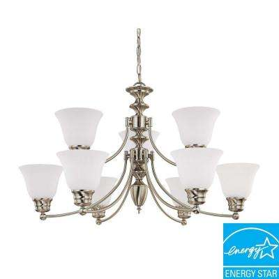 Empire 9-Light Brushed Nickel Hanging Chandelier