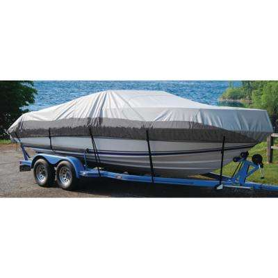 BoatGuard Eclipse Boat Cover with Storage Bag Tie-Down Straps and Support Pole for 75 in. Beams