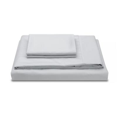 Performance Percale 4-Piece Cloud Gray 300-Thread Count TENCEL Lyocell and Cotton California King Sheet Set