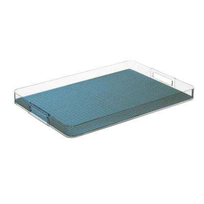 Fishnet Niagara Blue Rectangular Serving Tray