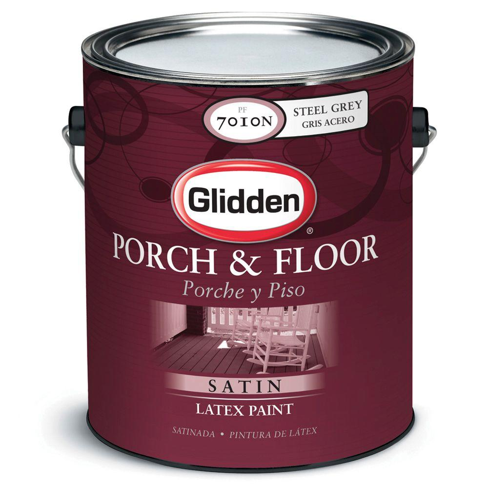 Glidden Porch And Floor 1 Gal Satin Latex Paint Pf7016n