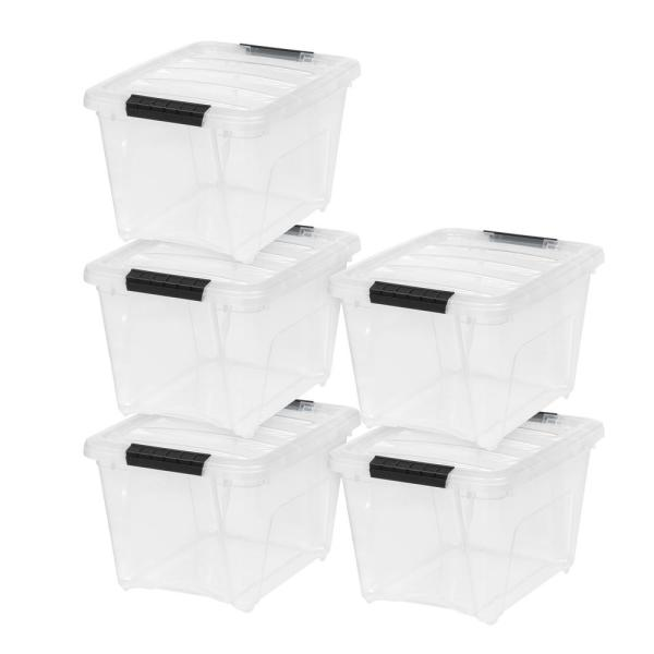 19 Qt. Stack and Pull Box in Clear (5-Pack)