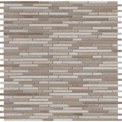 Arctic Storm Bamboo 12 in. x 12 in. Honed Marble Mesh-Mounted Mosaic Floor and Wall Tile (10 sq. ft. / case)