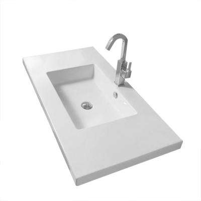 Mars Wall Mounted Ceramic Bathroom Sink in White