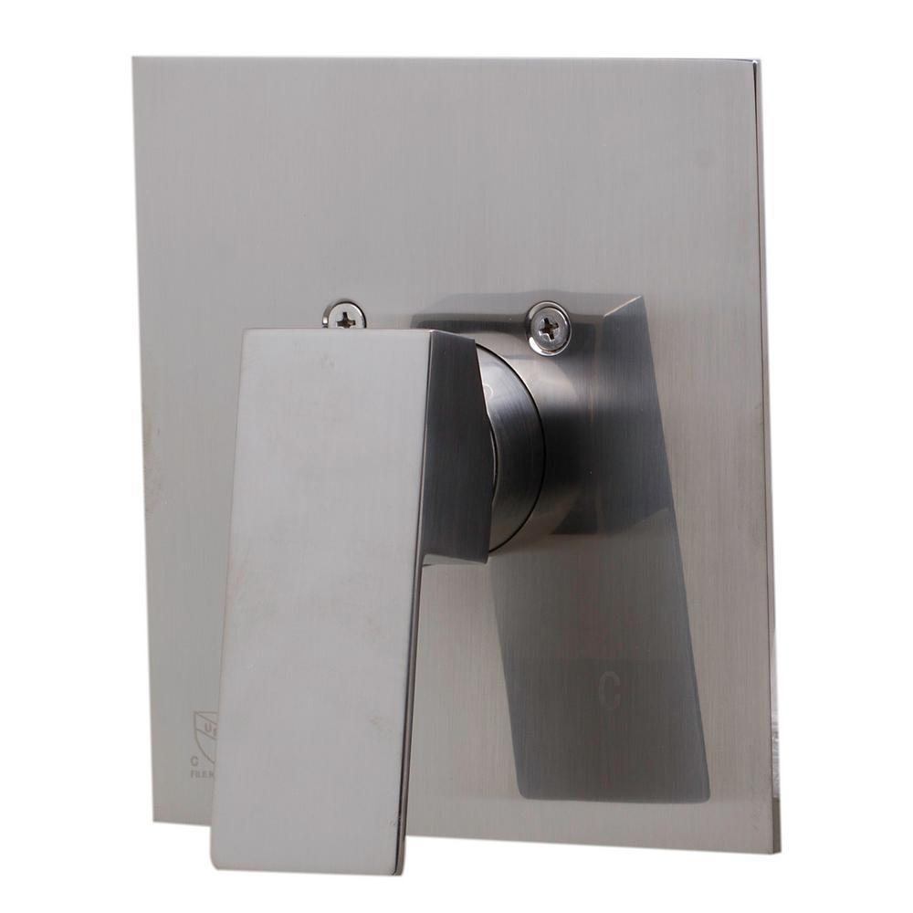 Single-Handle Shower Mixer with Sleek Modern Design in Brushed Nickel