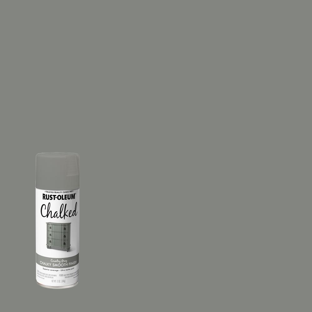 Rust-Oleum 12 oz. Chalked Country Gray Ultra Matte Spray Paint (6-Pack)