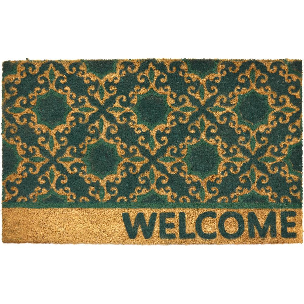 Fiesta 18 in. x 28 in. Coir Outdoor Mat