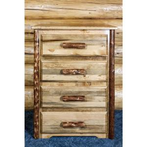 Glacier Country 4-Drawer Stained and Lacquered Chest
