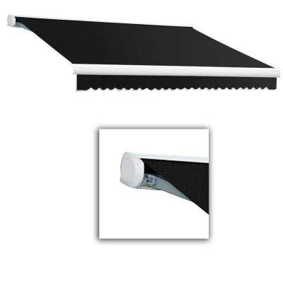 16 ft. Key West Full Cassette Left Motor Retractable Awning (120 in. Projection) Black