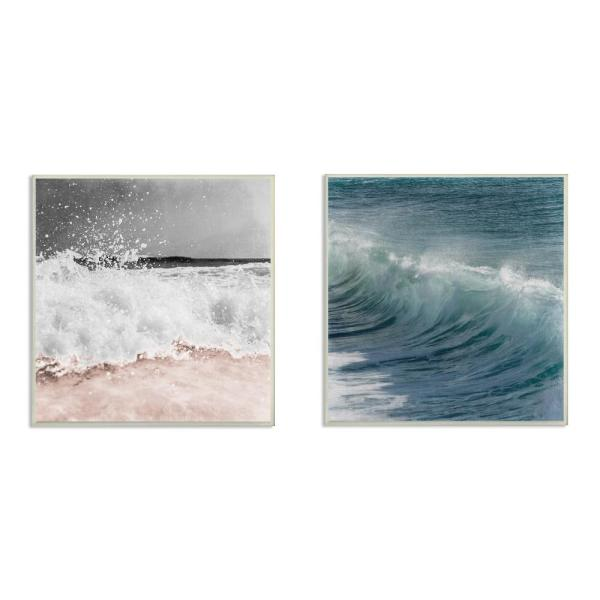 12 In X 12 In Ocean Waves And Motion Photographs By Marcus Prime Wood Wall Art 2 Piece