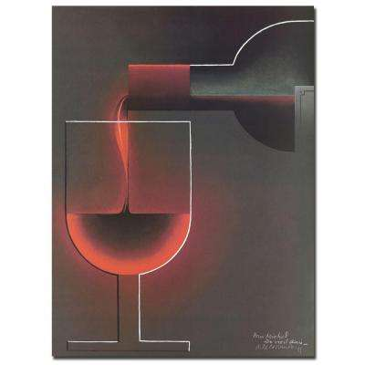 18 in. x 24 in. Red Wine Canvas Art
