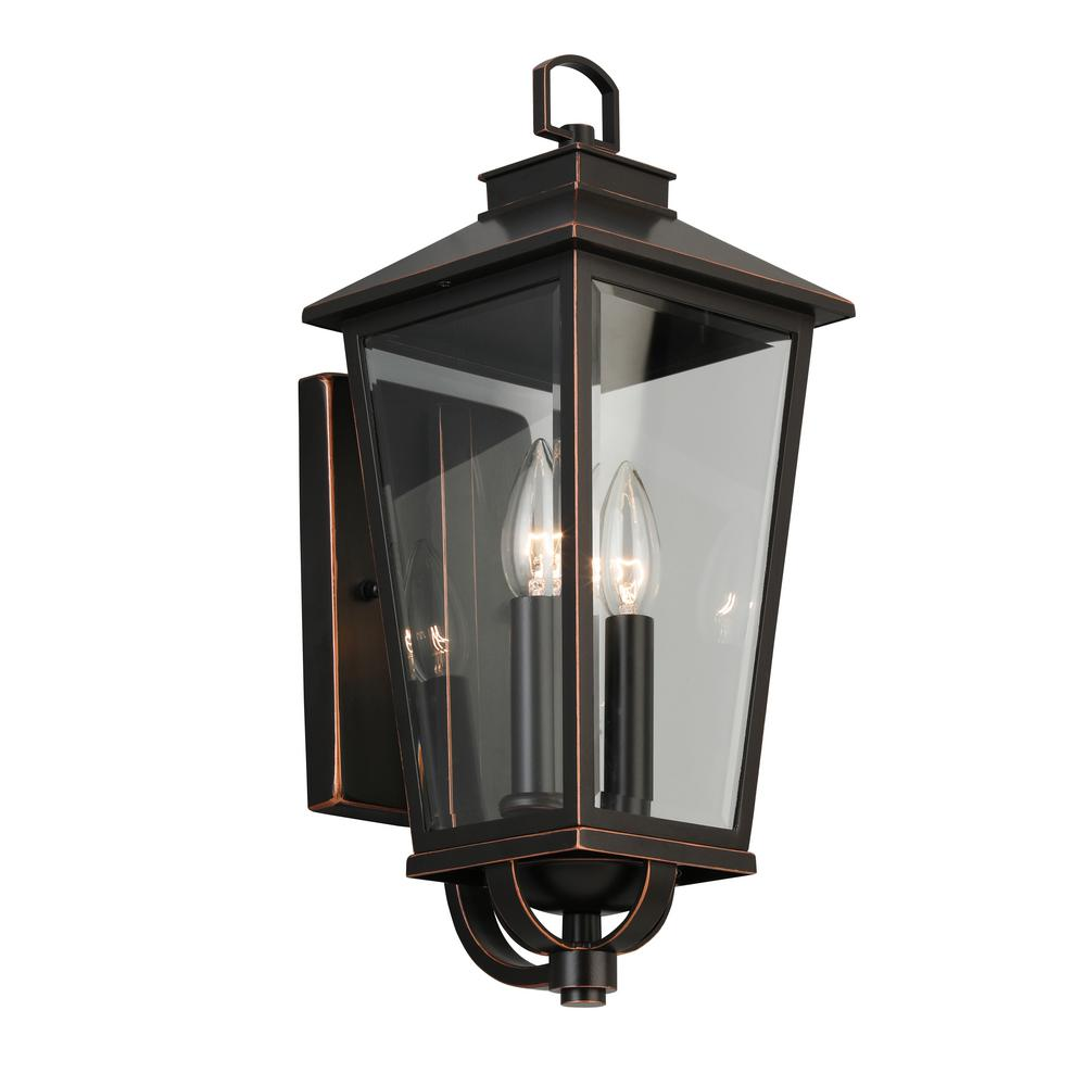 Home Decorators Collection Williamsburg Gas Style 2 Light Outdoor Wall Mount Coach Sconce