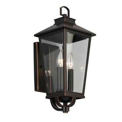 Williamsburg Gas Style 2-Light Outdoor Wall Mount Coach Light Sconce